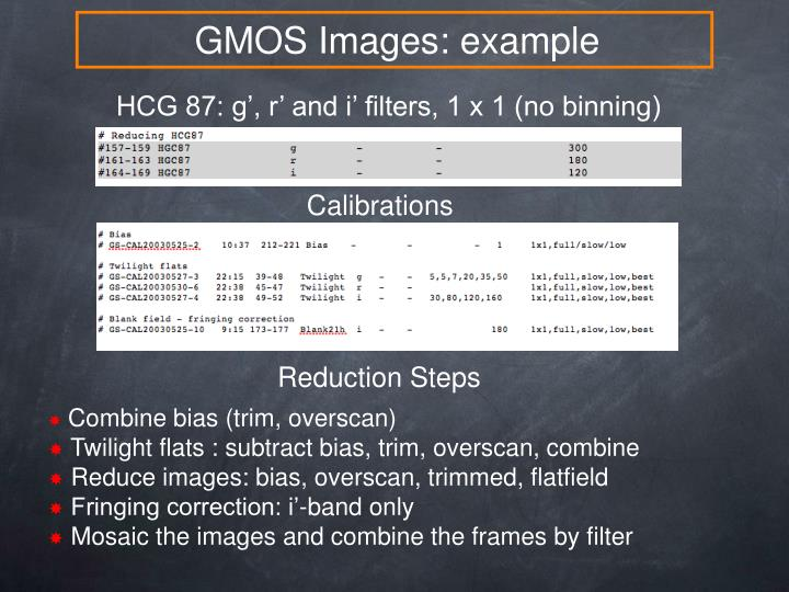 GMOS Images: example