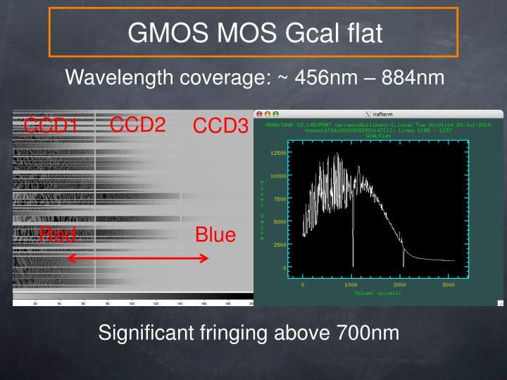 GMOS MOS Gcal flat
