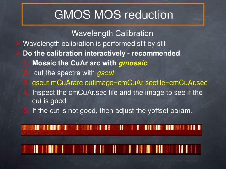 GMOS MOS reduction