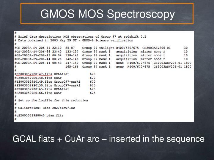 GMOS MOS Spectroscopy