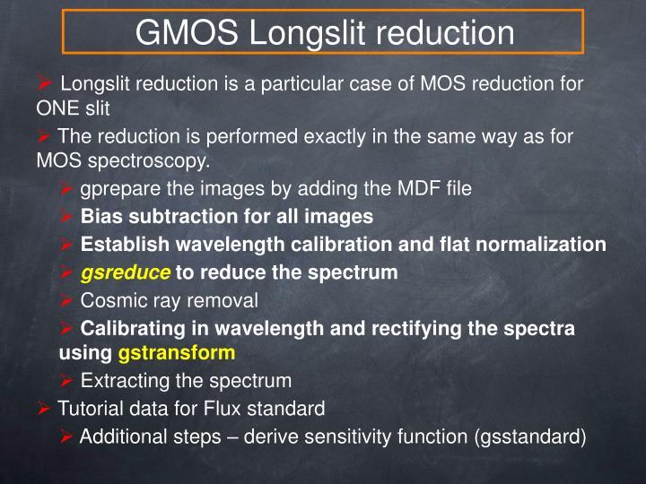 GMOS Longslit reduction