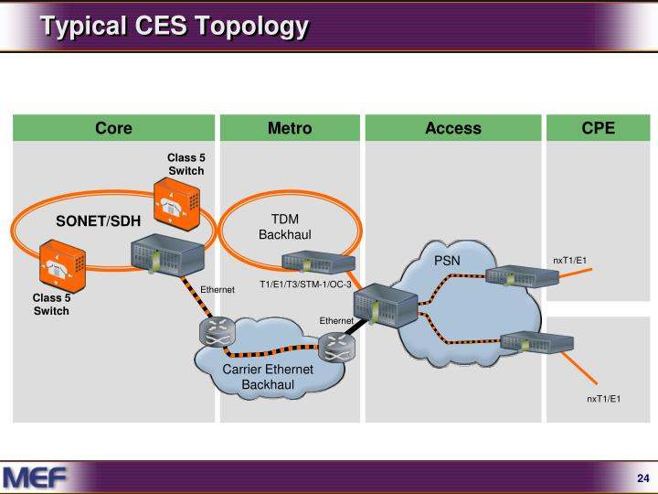 Typical CES Topology