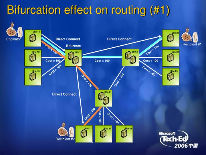 Bifurcation effect on routing (#1)