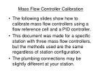 mass flow controller calibration