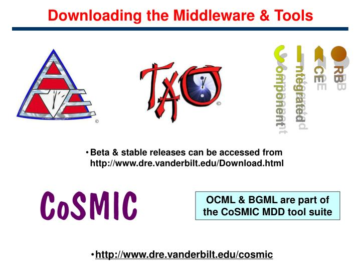Downloading the Middleware & Tools