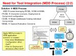 need for tool integration mdd process 2 2