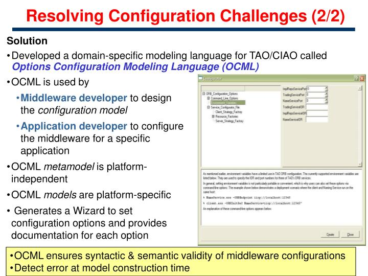 Resolving Configuration Challenges (2/2)
