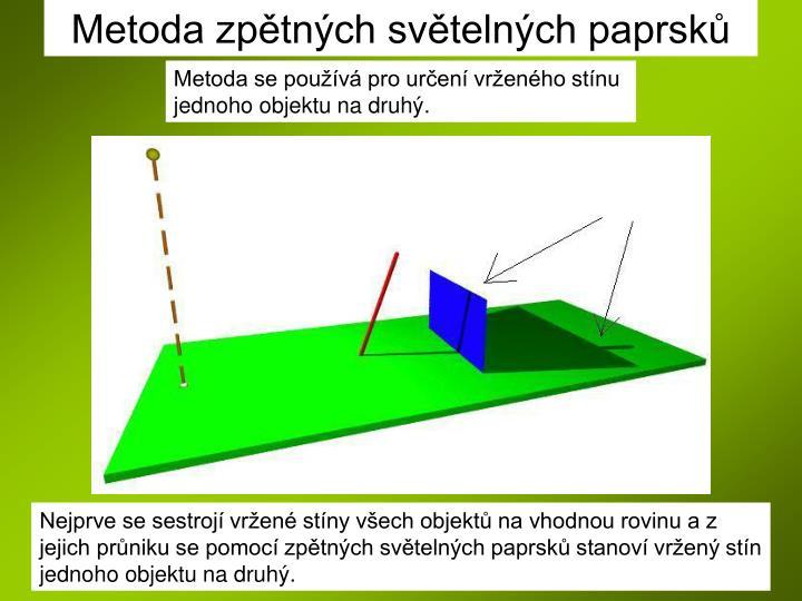 Metoda zpětných světelných paprsků