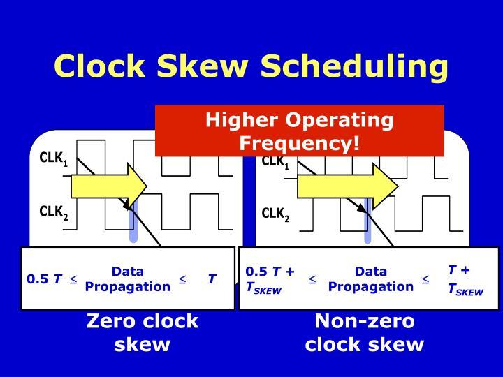 Clock Skew Scheduling