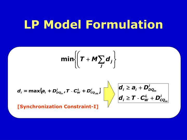 LP Model Formulation
