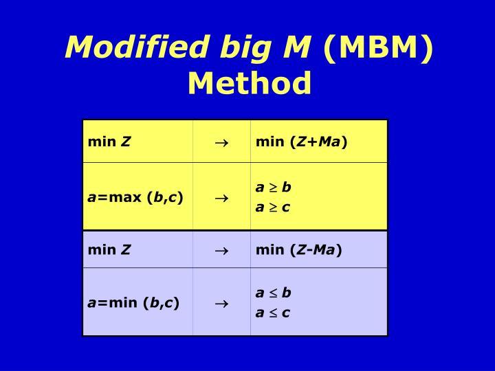 Modified big M