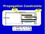 propagation constraints