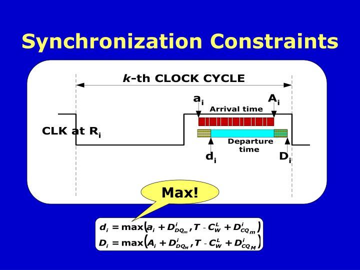 Synchronization Constraints