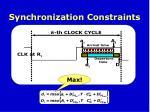 synchronization constraints1