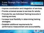 5 year strategic plan delivery points