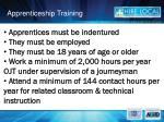 apprenticeship training
