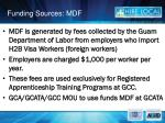 funding sources mdf