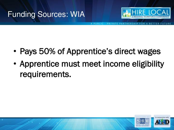 Funding Sources: WIA
