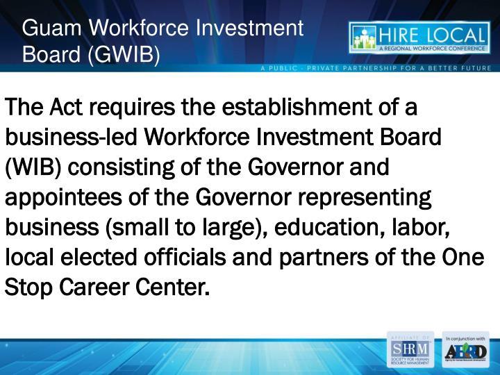 Guam Workforce Investment Board (GWIB)