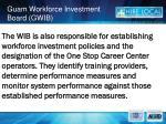 guam workforce investment board gwib5