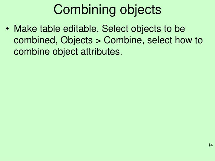 Combining objects