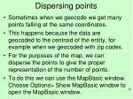dispersing points