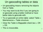un geocoding tables or data