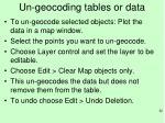 un geocoding tables or data1