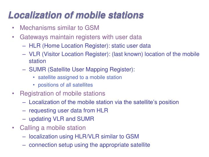 Localization of mobile stations