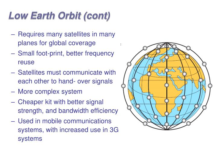 Low Earth Orbit (cont)