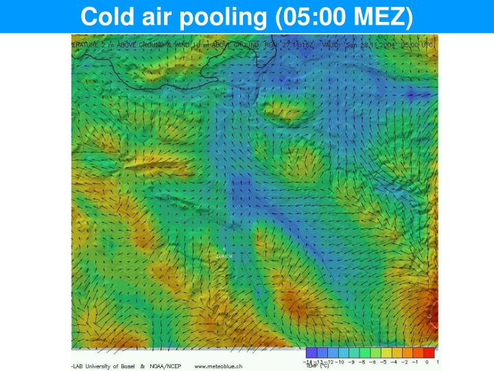 Cold air pooling (05:00 MEZ)
