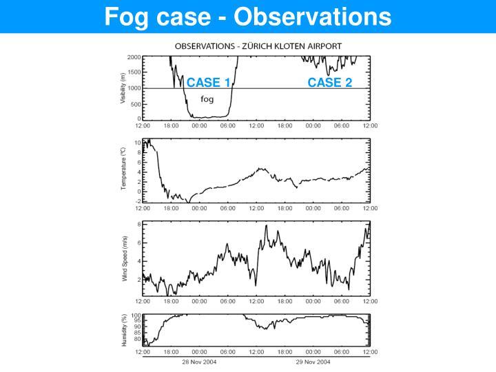 Fog case - Observations