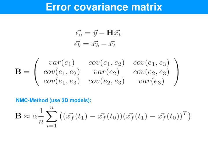 Error covariance matrix