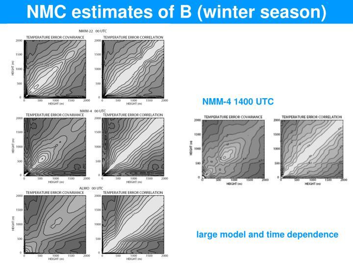 NMC estimates of B (winter season)