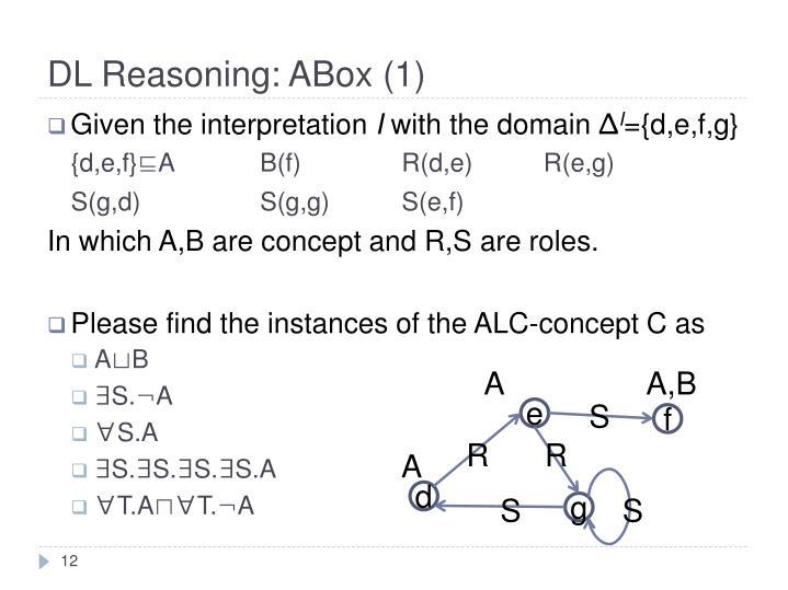 DL Reasoning: ABox (1)