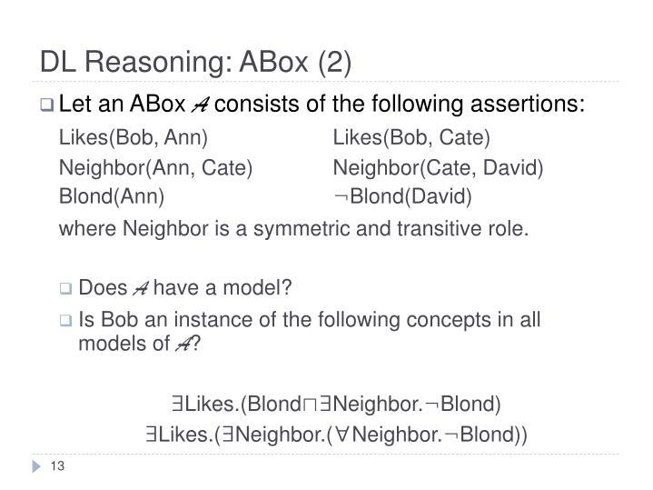 DL Reasoning: ABox (2)