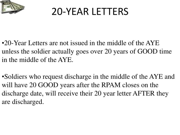 20-YEAR LETTERS