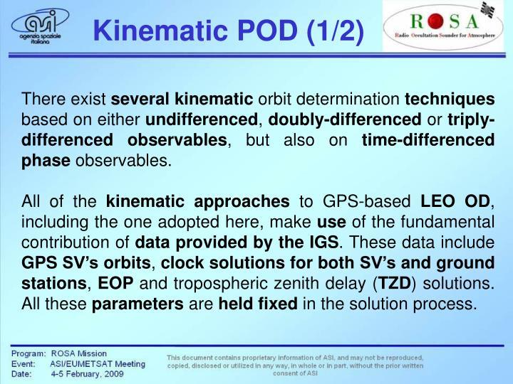 Kinematic POD (1/2)