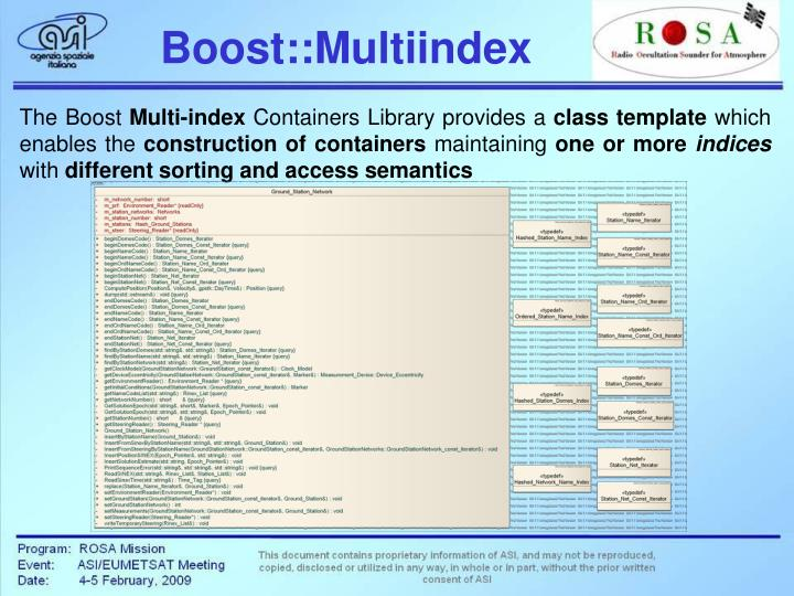 Boost::Multiindex