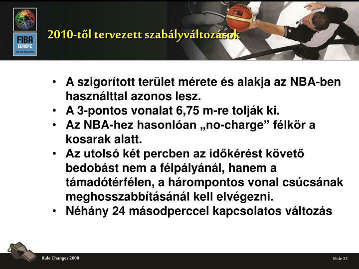 2010-től tervezett szabályváltozások