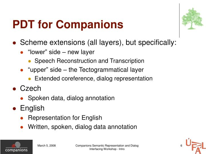 PDT for Companions