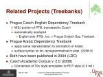 related projects treebanks
