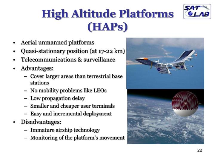 High Altitude Platforms