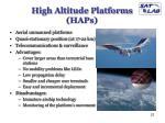 high altitude platforms haps