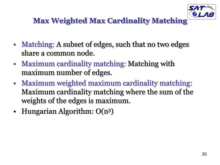 Max Weighted Max Cardinality Matching