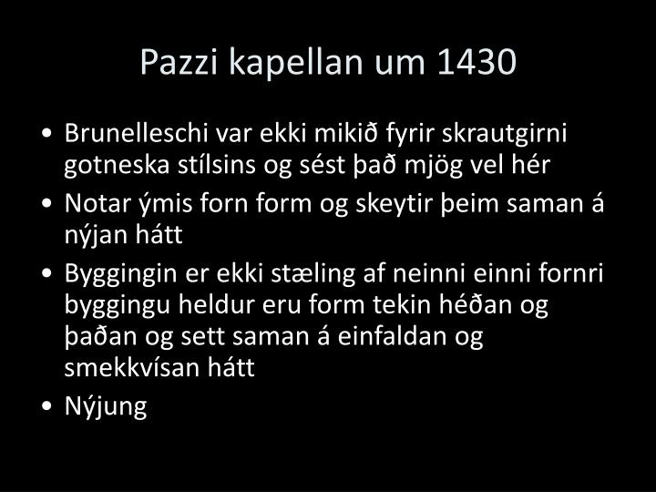 Pazzi kapellan um 1430