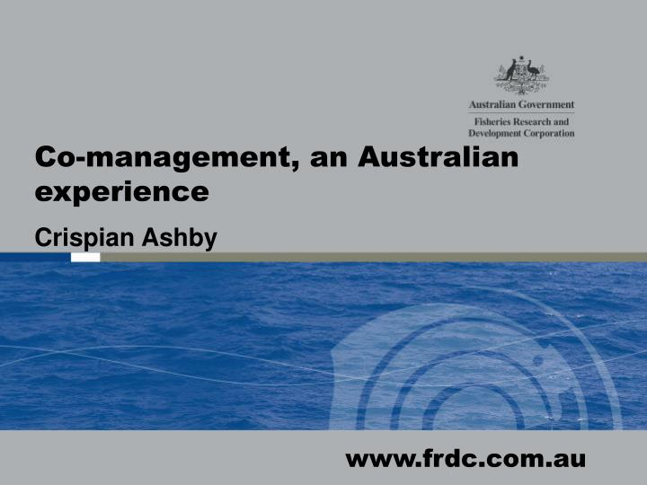 Co-management, an Australian experience