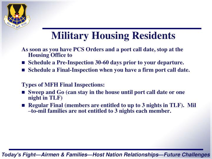 Military Housing Residents