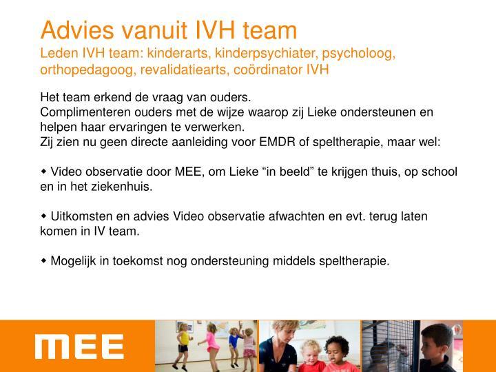 Advies vanuit IVH team