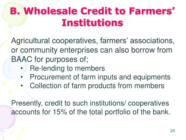 B. Wholesale
